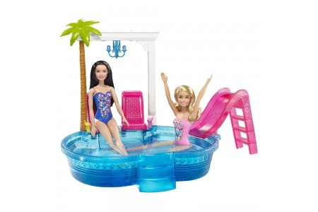Black Friday 2020 Sale Barbie Glam Pool with Water Slide & Pool Accessories Free Shipping