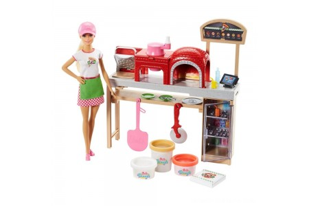 Barbie Careers Pizza Chef Doll and Playset Free Shipping