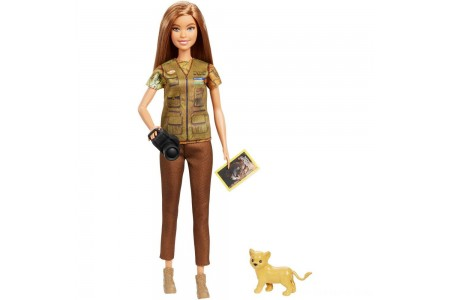 Barbie National Geographic Photographer Playset Free Shipping