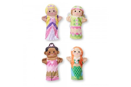 Melissa & Doug Storybook Friends Hand Puppets (Set of 4) - Princess, Fairy, Mermaid, and Ballerina Free Shipping