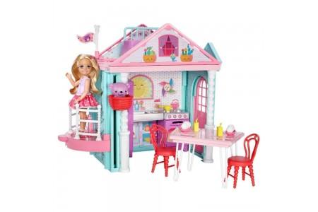 Barbie Club Chelsea Doll and Playhouse Free Shipping