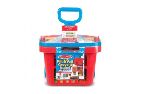 Melissa & Doug Fill & Roll Grocery Basket Playset Free Shipping
