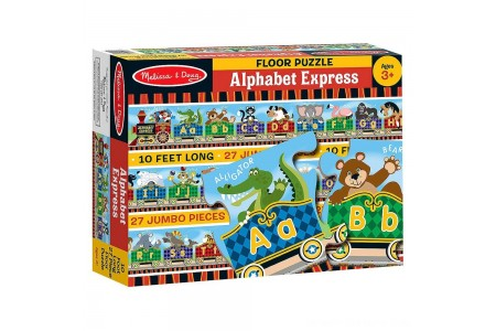 Melissa & Doug Alphabet Express Jumbo Jigsaw Floor Puzzle (27pc, 10 feet long) Free Shipping