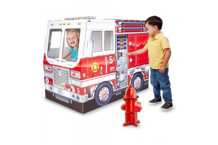 Melissa & Doug Fire Truck Indoor Playhouse Free Shipping