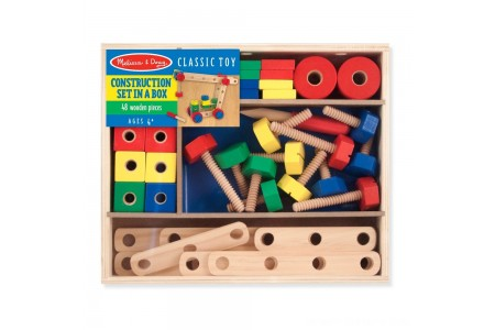 Melissa & Doug Wooden Construction Building Set in a Box (48pc) Free Shipping