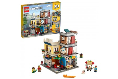 LEGO Creator Townhouse Pet Shop & Café 31097 Free Shipping