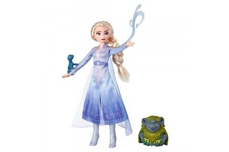 Black Friday 2020 Sale Disney Frozen 2 Elsa Fashion Doll In Travel Outfit With Pabbie and Salamander Figures Free Shipping