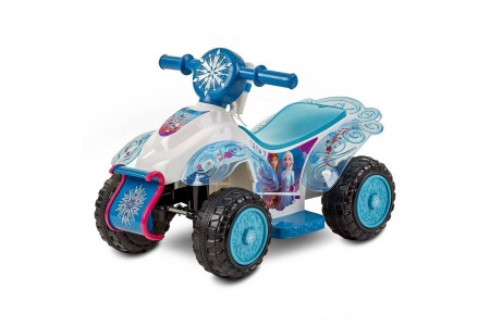 Black Friday 2020 Sale Frozen 2 Kid Trax Sing and Ride Toddler 6V Quad - White Free Shipping