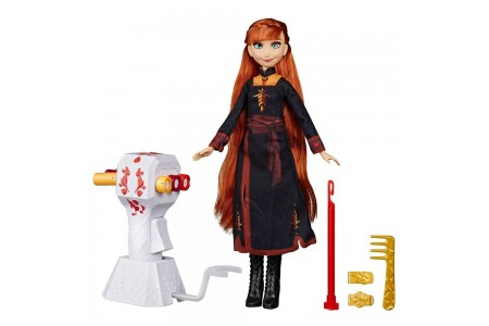Black Friday 2020 Sale Disney Frozen 2 Sister Styles Anna Fashion Doll With Extra-Long Red Hair, Braiding Tool and Hair Clips Free Shipping