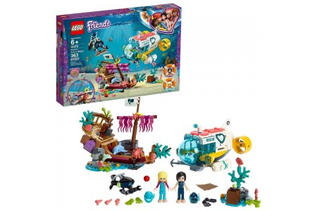 LEGO Friends Dolphins Rescue Mission 41378 Sea Life Building Kit with Toy Submarine and Sea Creatures Free Shipping