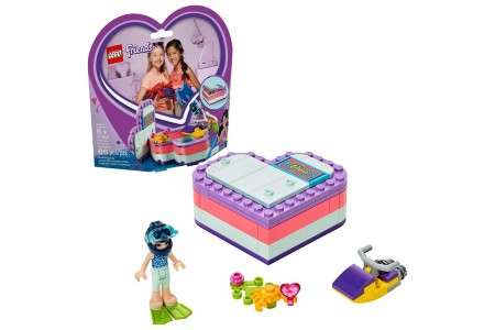Black Friday 2020 Sale LEGO Friends Emma's Summer Heart Box 41385 Building Kit with Toy Scooter and Mini Doll 83pc Free Shipping