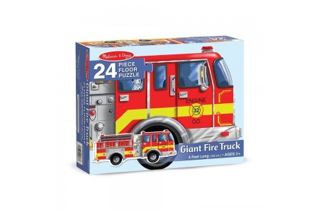 Melissa And Doug Fire Truck Jumbo Floor Puzzle 24pc Free Shipping
