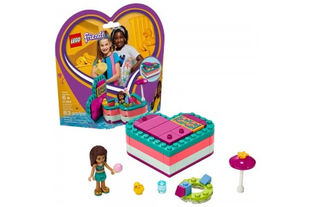 LEGO Friends Andrea's Summer Heart Box 41384 Heart Box Building Set with Andrea Mini Doll Playset 83pc Free Shipping