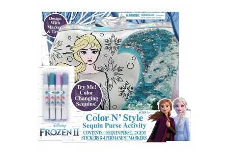 Black Friday 2020 Sale Disney Frozen 2 Color and Style Sequin Purse Activity Set Free Shipping