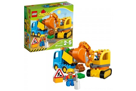 LEGO DUPLO Truck & Tracked Excavator 10812 Free Shipping