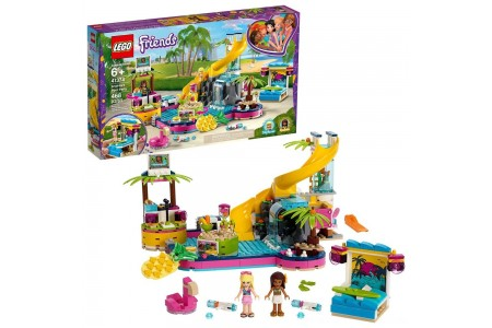LEGO Friends Andrea's Pool Party 41374 Toy Pool Building Set with Mini Dolls for Pretend Play Free Shipping