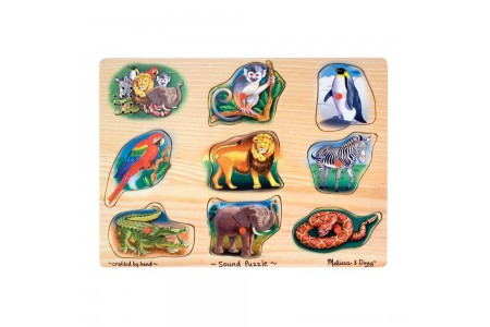Black Friday 2020 Sale Melissa & Doug Zoo Sound Puzzle - Wooden Peg Puzzle With Sound Effects 8pc Free Shipping
