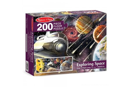 Melissa & Doug Exploring Space Jumbo Jigsaw Floor Puzzle 200pc Free Shipping