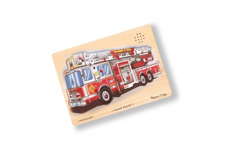 Melissa & Doug Fire Truck Sound Puzzle - 9pc Free Shipping