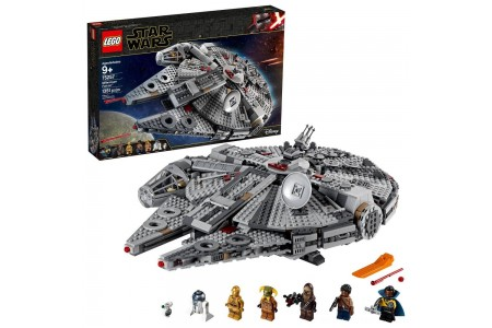 Black Friday 2020 Sale LEGO Star Wars: The Rise of Skywalker Millennium Falcon Building Kit Starship Model with Minifigures 75257 Free Shipping