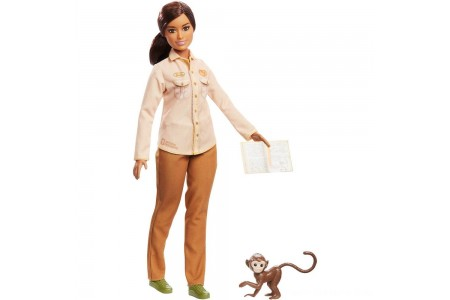 Barbie National Geographic Doll with Monkey Free Shipping