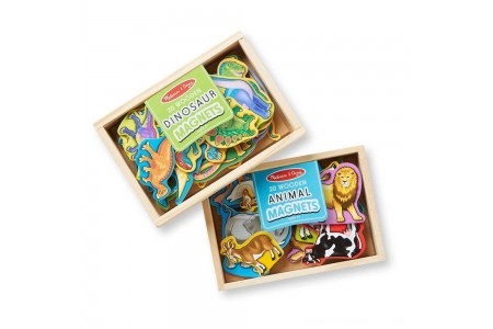 Melissa & Doug Wooden Magnets Set - Animals and Dinosaurs With 40 Wooden Magnets Free Shipping