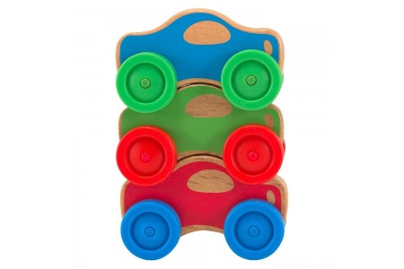 Melissa & Doug Stacking Cars Wooden Baby Toy Free Shipping