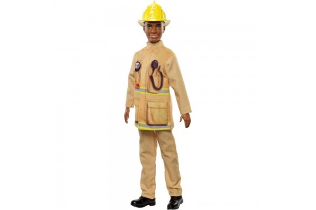 Barbie Ken Career Firefighter Doll Free Shipping