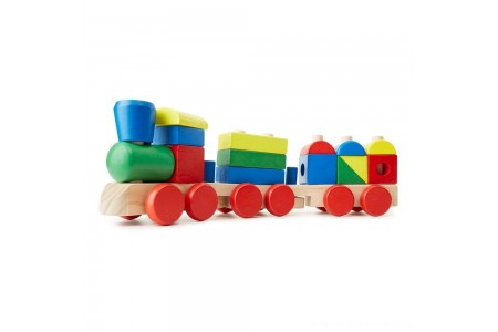 Black Friday 2020 Sale Melissa & Doug Stacking Train - Classic Wooden Toddler Toy (18pc) Free Shipping