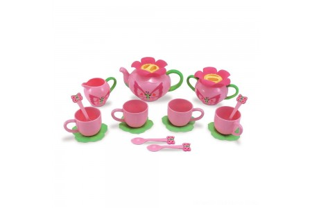 Melissa & Doug Sunny Patch Bella Butterfly Tea Set (17pc) - Play Food Accessories Free Shipping