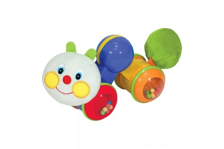 Melissa & Doug K's Kids Press and Go Inchworm Baby Toy - Rattles, Clicks, and Self Propels Free Shipping