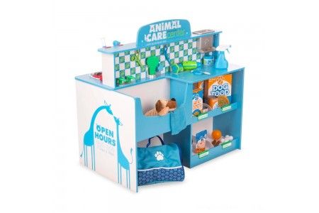 Melissa & Doug Animal Care Veterinarian and Groomer Wooden Activity Center Free Shipping