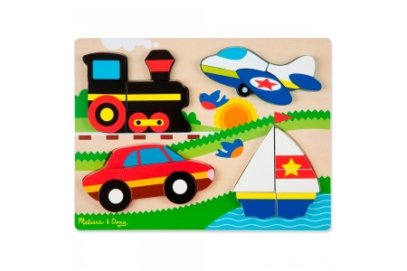 Melissa & Doug Chunky Jigsaw Puzzle - Vehicles 20pc Free Shipping