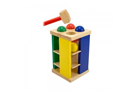 Melissa & Doug Deluxe Pound and Roll Wooden Tower Toy With Hammer Free Shipping