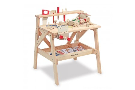 Melissa & Doug Solid Wood Project Workbench Play Building Set Free Shipping