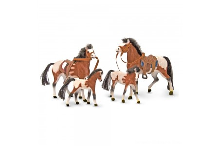 Melissa & Doug Horse Family With 4 Collectible Horses Free Shipping