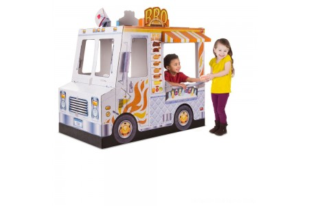 Melissa & Doug Food Truck Indoor Corrugate Playhouse (Over 4' Long) Free Shipping