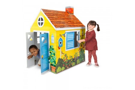 Melissa & Doug Country Cottage Indoor Corrugate Playhouse (Over 4' Tall) Free Shipping