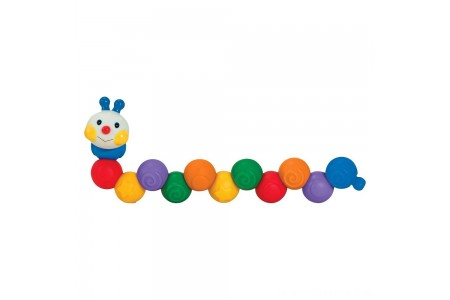 Melissa & Doug K's Kids Build an Inchworm Snap-Together Soft Block Set for Baby - Linkable, Twistable, Stackable, Squeezable Free Shipping