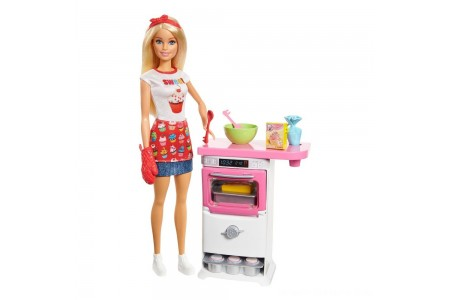 Black Friday 2020 Sale Barbie Careers Bakery Chef Doll and Playset Free Shipping