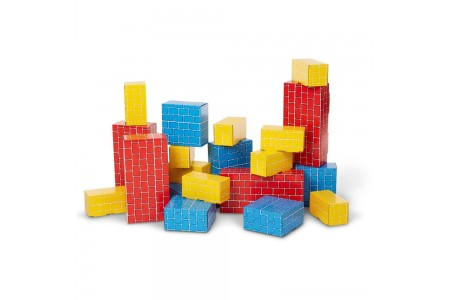 Melissa & Doug Extra-Thick Cardboard Building Blocks - 24 Blocks in 3 Sizes Free Shipping