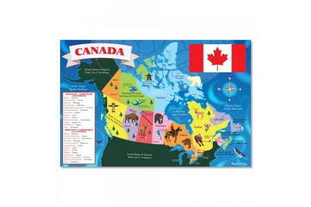 Melissa And Doug Canada Map Jumbo Floor Puzzle 48pc Free Shipping