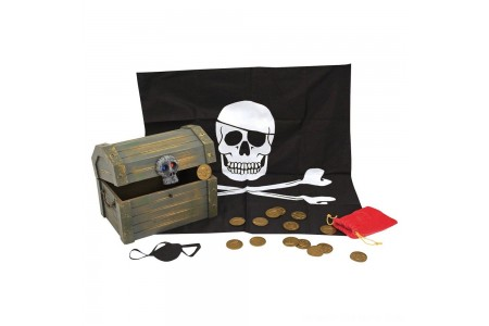 Melissa & Doug Wooden Pirate Chest Pretend Play Set Free Shipping