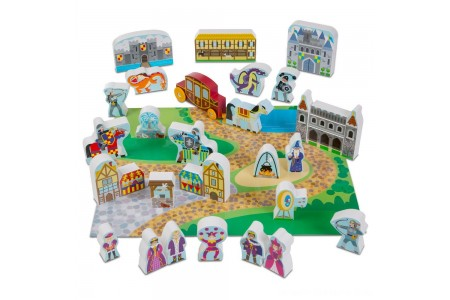 Melissa & Doug Wooden Castle Play Set Free Shipping