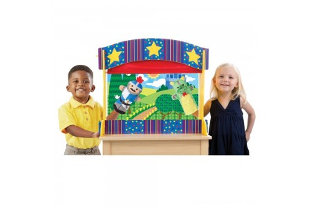 Melissa & Doug Tabletop Puppet Theater - Sturdy Wooden Construction Free Shipping