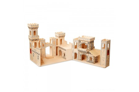 Black Friday 2020 Sale Melissa & Doug Deluxe Folding Medieval Wooden Castle - Hinged for Compact Storage Free Shipping