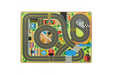 Melissa & Doug Jumbo Roadway Activity Rug With 4 Wooden Traffic Signs (79 x 58 inches) Free Shipping