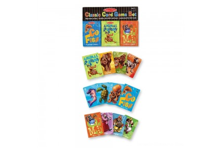 Melissa & Doug Classic Card Games Set - Old Maid, Go Fish, Rummy Free Shipping