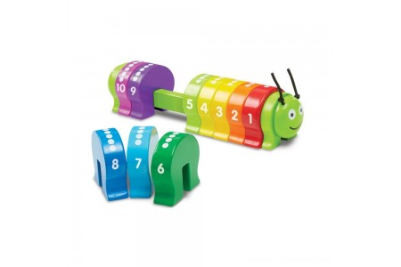 Melissa & Doug Counting Caterpillar - Classic Wooden Toy With 10 Colorful Numbered Segments Free Shipping