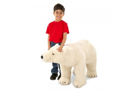 Melissa & Doug Giant Polar Bear - Lifelike Stuffed Animal (nearly 3 feet long) Free Shipping